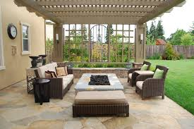 Rectangle Fire Pit - rectangular fire pit patio mediterranean with decorative pillows