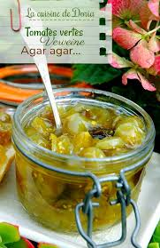 vervenne cuisine confiture de tomates cerises vertes et verveine la cuisine de doria