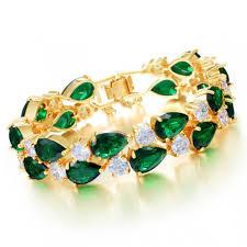 girls bracelet gold images Buy bracelet online green bracelet yellow gold plated bracelet JPG