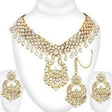 bridal indian necklace set images Buy spargz gold plated traditional jewellery kundan pearl indian jpg