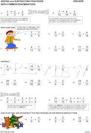 adding fractions answer key worksheets by math crush fractions