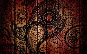 paisley pattern on wood walldevil