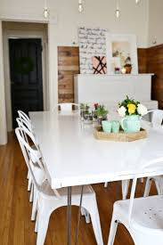 White Wood Dining Room Table by Tips For Painting A Dining Room Table U2013 A Beautiful Mess
