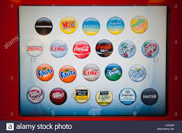 self service drink machine with coca cola products at the new