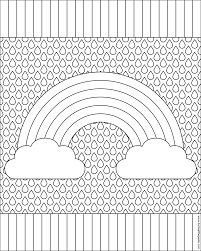 geometric tessellation with rhombus pattern coloring page inside