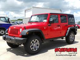 jeep wrangler red jeep wrangler unlimited in lafayette la acadiana dodge chrysler