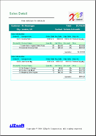 Excel Sales Report Template Free Excel Report Sle Sales Detail