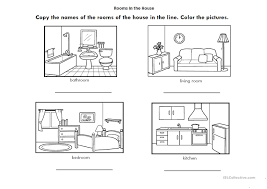 rooms in the house rooms of the house worksheet free esl printable worksheets made