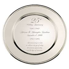 25th anniversary plates wedding anniversary gifts 25th wedding anniversary return gifts