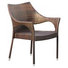 set wicker arm chair foter
