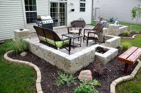 Diy Patio Furniture Cinder Blocks Diy Patio Home Design Ideas