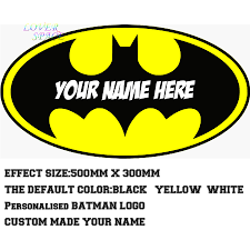personalised batman logo decal removable wall sticker home decor