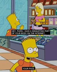 Bart Simpson Meme - bart simpson meets paris hilton the simpsons pinterest bart