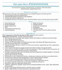 Hris Analyst Resume Sample by Best Compensation And Benefits Resume Example Livecareer
