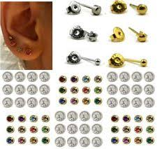 sterilized ear piercing studs sterile earrings ebay