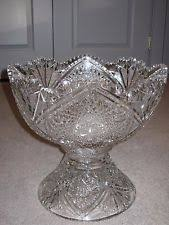 Pedestal Punch Bowl Cut Glass Bowl Ebay