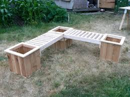 Easy Wooden Bench Plans Planters Planter Box Bench Plans Free Garden Stock Photo Diy