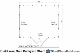 shed floor plan 10x12 modern shed plans bulid a modern studio shed