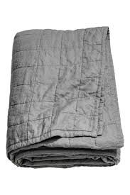 chemin de lit en lin couvre lit en lin lavé gris home all h u0026m ca