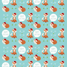 christmas wrap christmas fox gift wrap by the blue owl