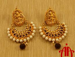 temple design gold earrings temple design gold plated earring allurina