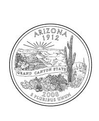 coloring pages quarter arizona state quarter coloring page usa state quarters