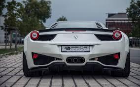 Ferrari 458 Italia White - prior design ferrari 458 italia coupe cars white modified