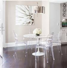 Ghost Dining Chair Customer Designed White Dinning Table Ghost Chairs Brass