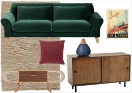 canapé style ée 50 déco salon avec fauteuils verts forum décoration intérieure