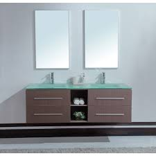 Modern Bathroom Vanities Double Sink Wall Mount Vanity  Rectangle - Pictures of bathroom sinks and vanities 2