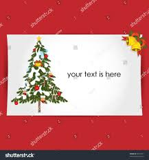 christmas tree greeting card stock vector 90753761 shutterstock