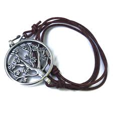 bracelet leather cord images Tree of life leather cord bracelet sterling silver honor emblem jpg
