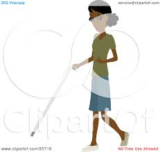 Blind People Canes Royalty Free Rf Clipart Illustration Of A Blind Black Woman