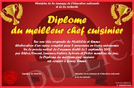 recherche chef de cuisine diplome du meilleur chef cuisinier