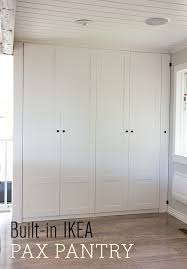 large kitchen pantry cabinet ikea kitchen chronicles ikea pax pantry reveal