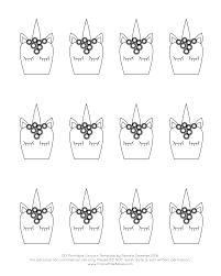 whimsical royal icing unicorn cupcake toppers with free printable