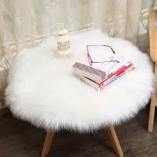 fur chair cover muzzi carpet sheepskin chair cover soft bedroom faux mat