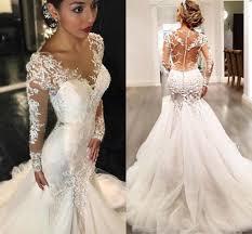 mermaid style wedding dress 2018 vintage mermaid trumpet style wedding dresses sleeves