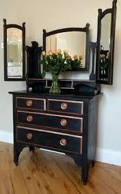 black dressing table dresser rose gold