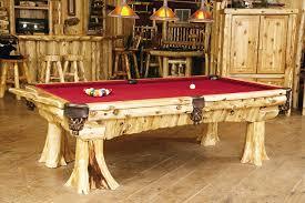jones brothers pool tables cedar log pool table rustic game room cabin decor pembertonfest