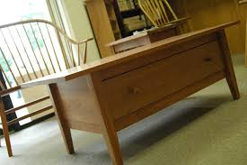 Cherry Coffee Table Cherrystone Furniture Cherry Shaker Coffee Table W Dovetailed Drawer