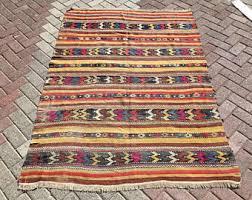 Colorful Kilim Rug Cheap Kilim Rugs Etsy