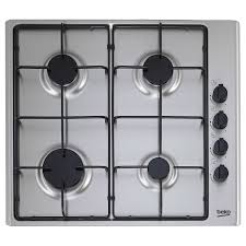 plaque de cuisine plaque de cuisson gaz 4 foyers inox beko hizg64120sx leroy merlin