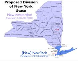 Map New York State by The Quixotic Campaign To Split New York State Geocurrents