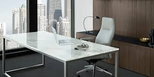 modern glass work desk luxurious office furniture with yellows accents combined curves
