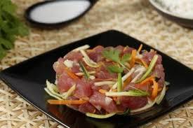 cours de cuisine crue recette en vidéo poisson cru comme à tahiti