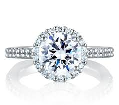 round halo rings images Signature round halo engagement ring engagement rings jpg