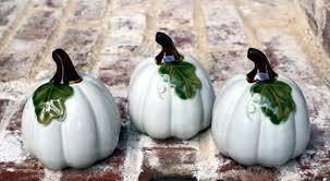 ceramic pumpkins ceramic pumpkins white 3pc flora decor