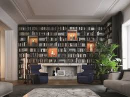 sectional wooden bookcase wall system poliform muebles sueltos