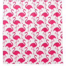Flamingo Shower Curtains Pink Flamingo Shower Curtains Zazzle